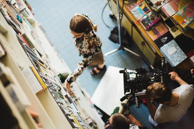 filming-a-woman-at-library-2925311